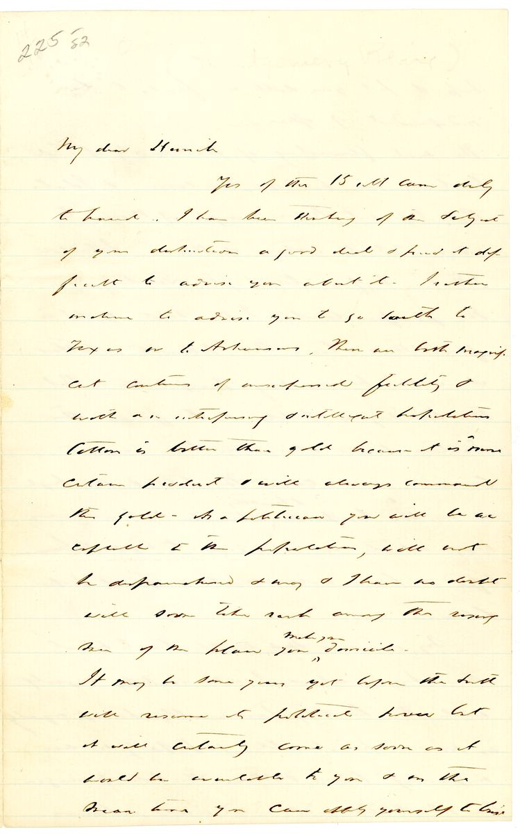 Image: Letter from Montgomery Blair to Herrick (?)