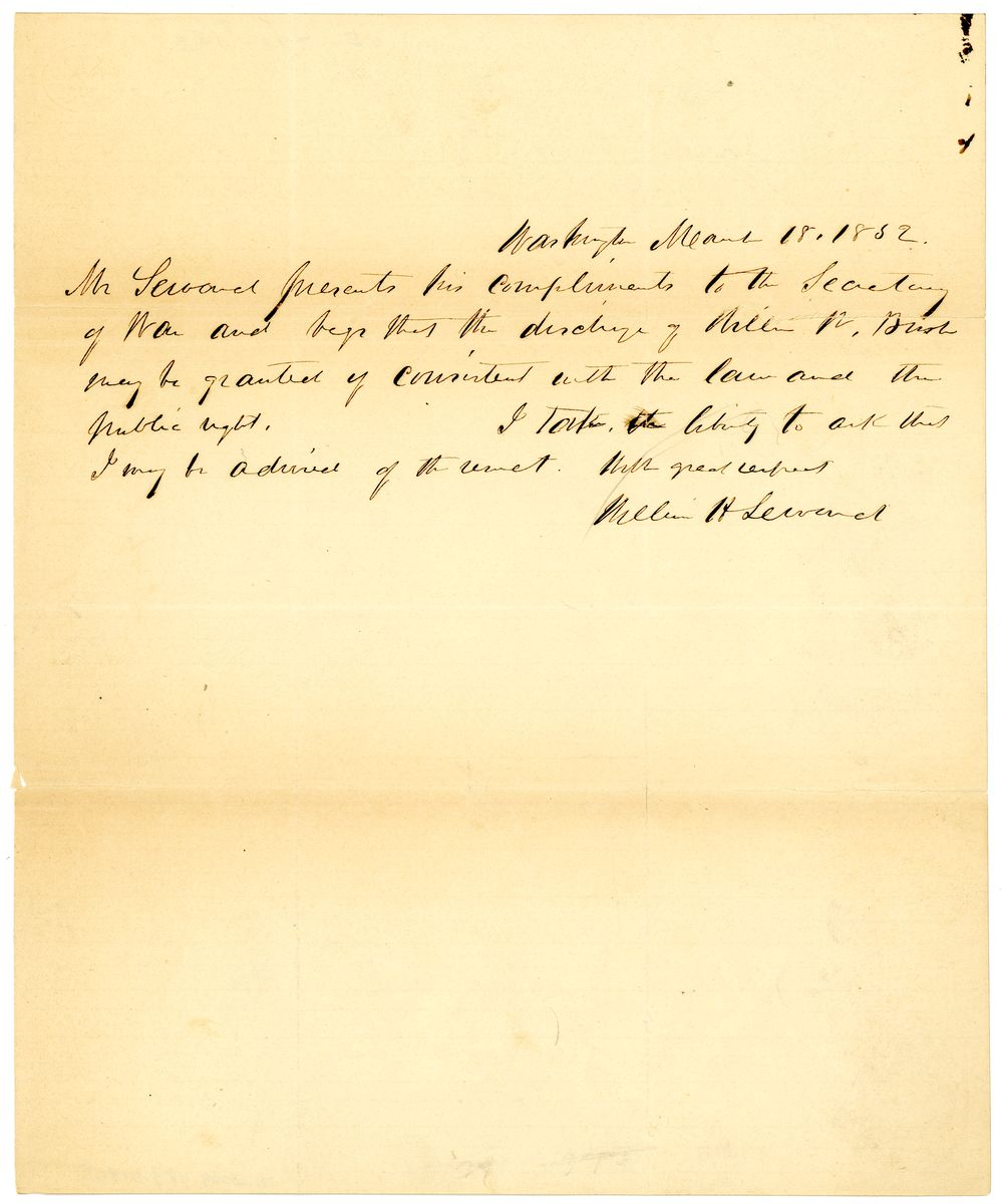Image: Letter from William Henry Seward to Charles Magill Conrad