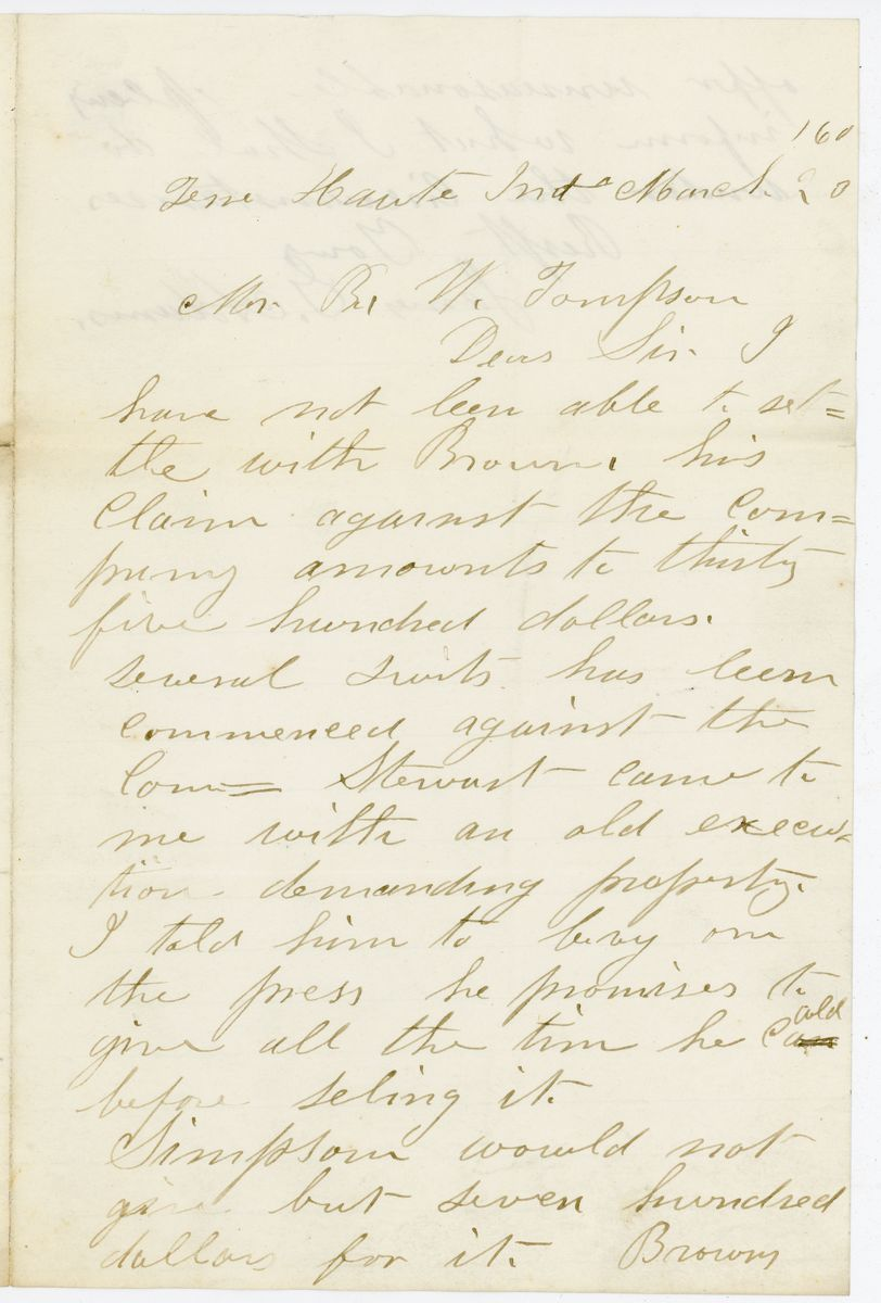 Image: Letter from James G. Adams to Richard W. Thompson