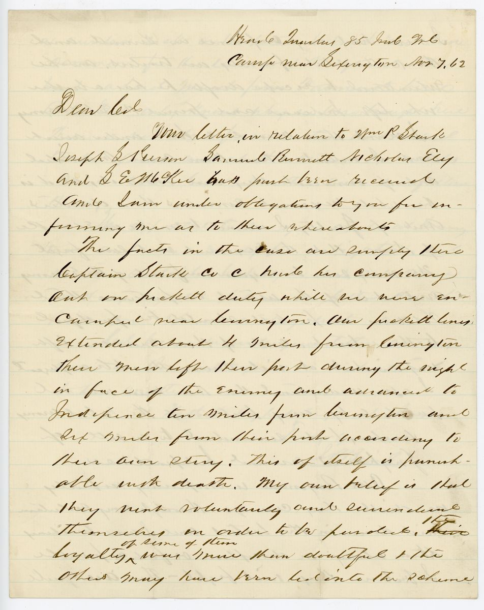 Image: Letter from John P. Baird to Richard W. Thompson