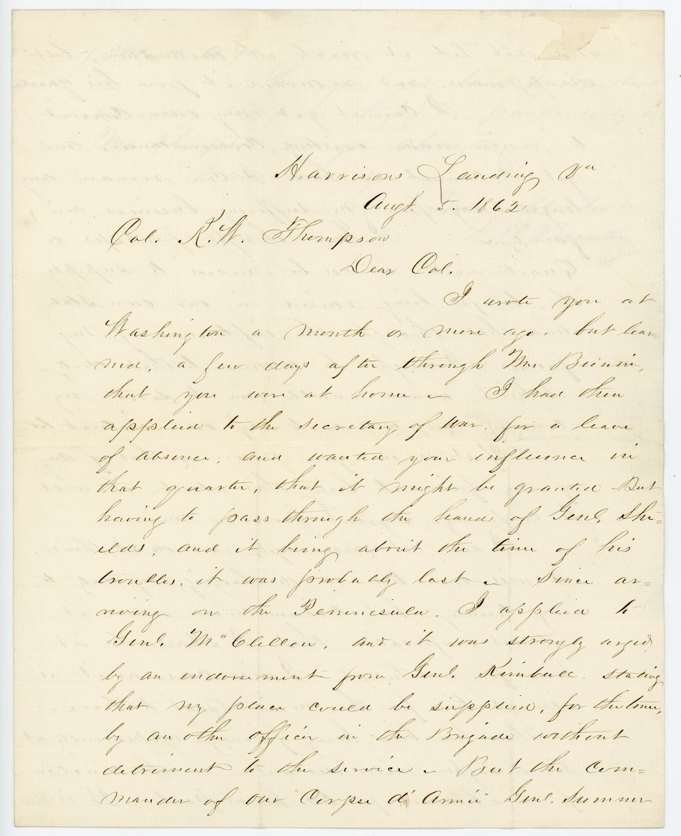 Image: Letter from T.C. Buntin to Richard W. Thompson