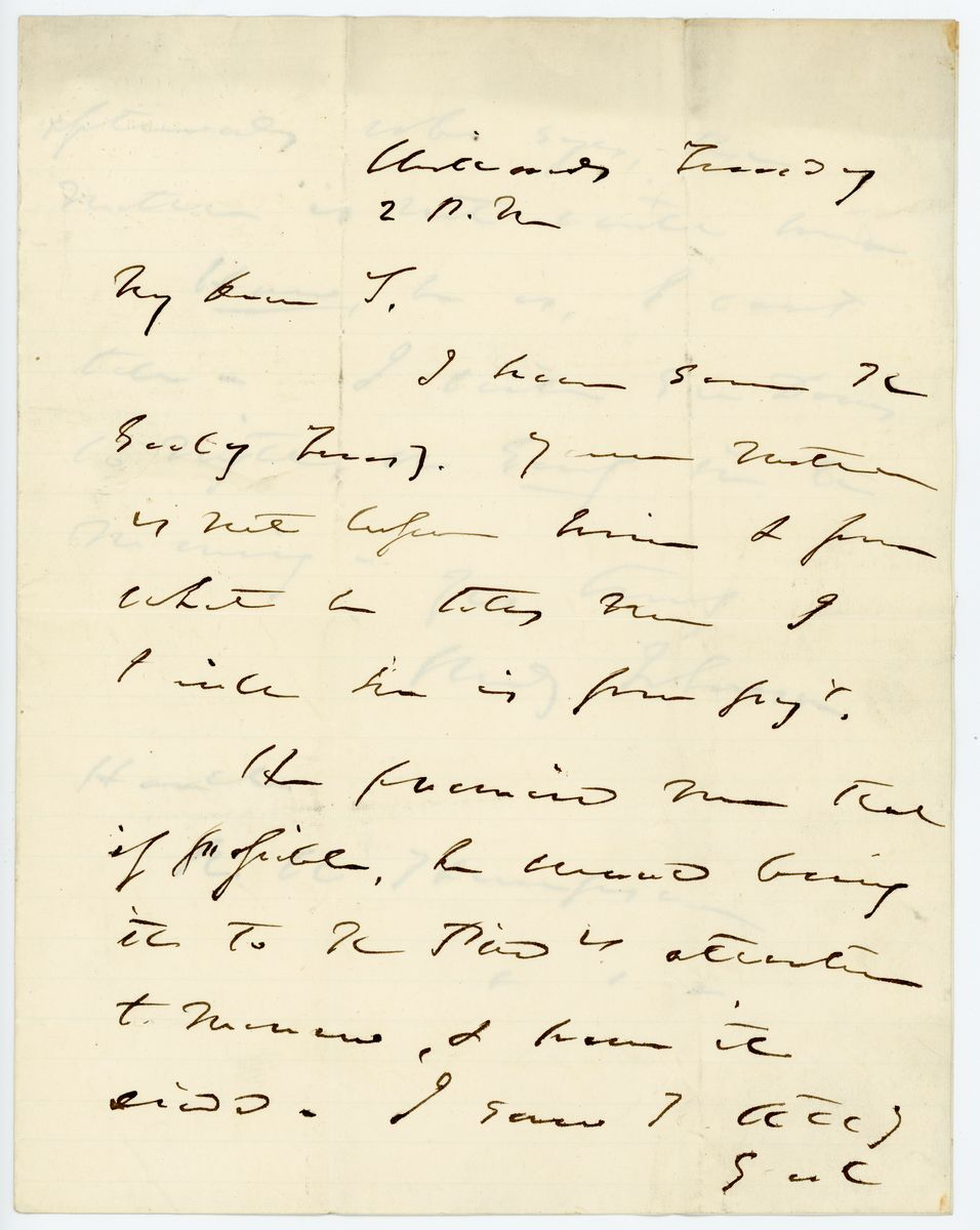 Image: Letter from Reverdy Johnson to Richard W. Thompson