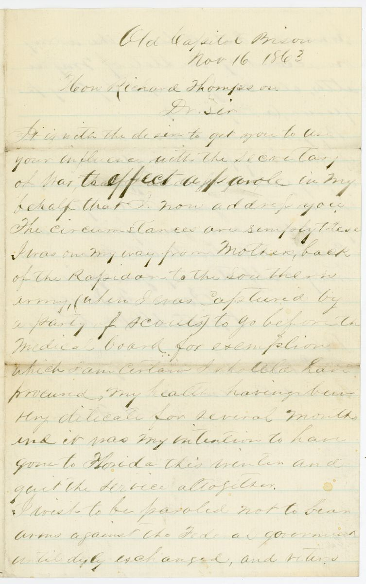 Image: Letter from James F. Jones to Richard W. Thompson