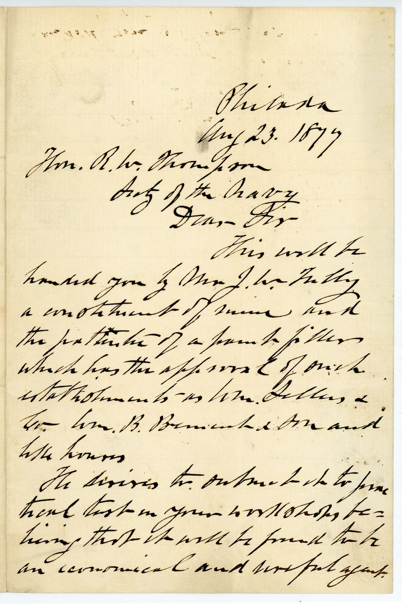 Image: Letter from William D. Kelly to Richard W. Thompson
