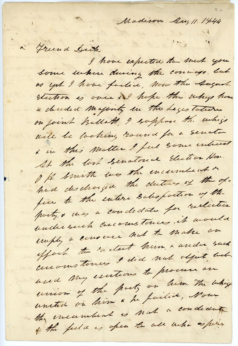 Image: Letter from Joseph G. Marshall to Richard W. Thompson
