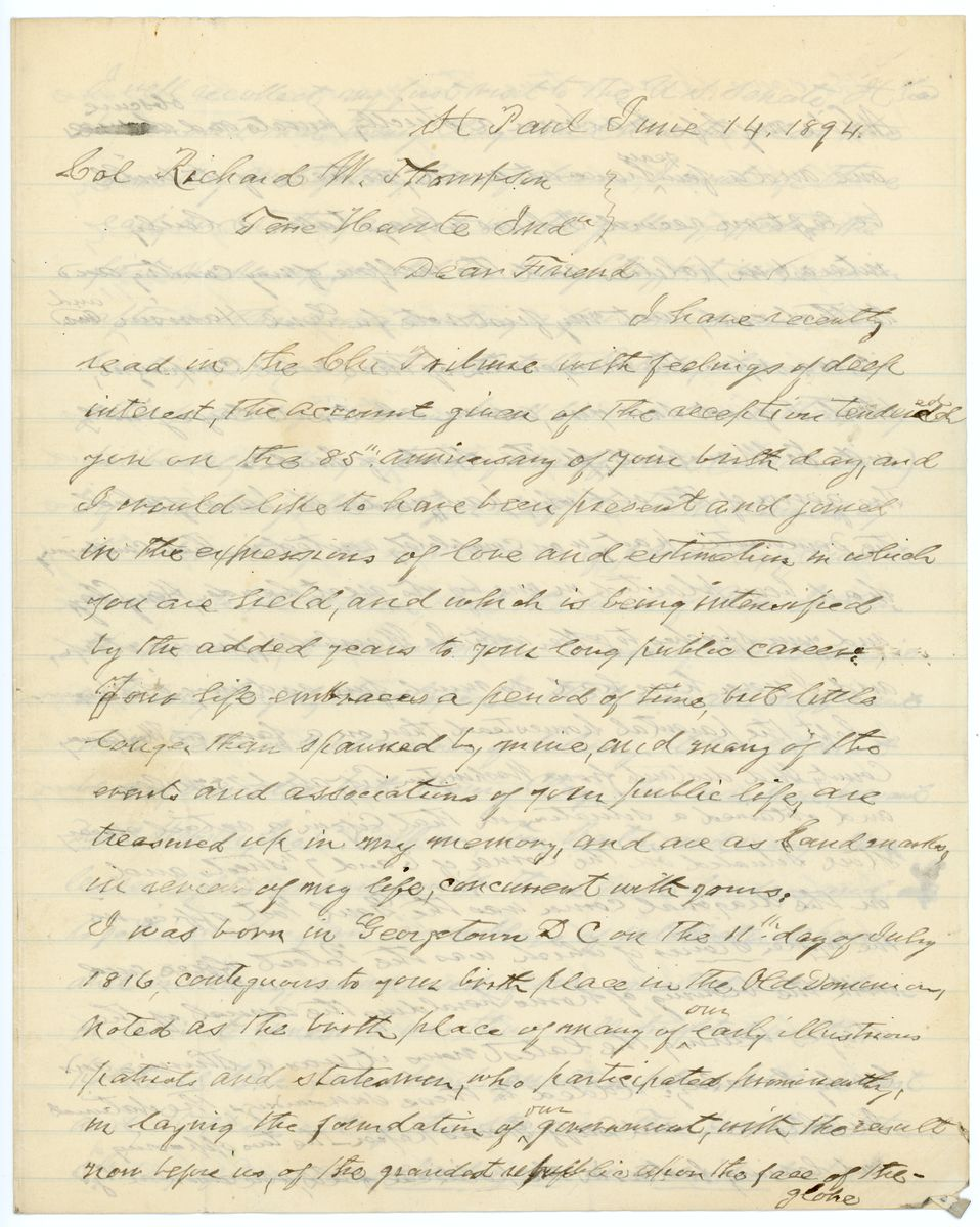 Image: Letter from Robert P. Ober to Richard W. Thompson