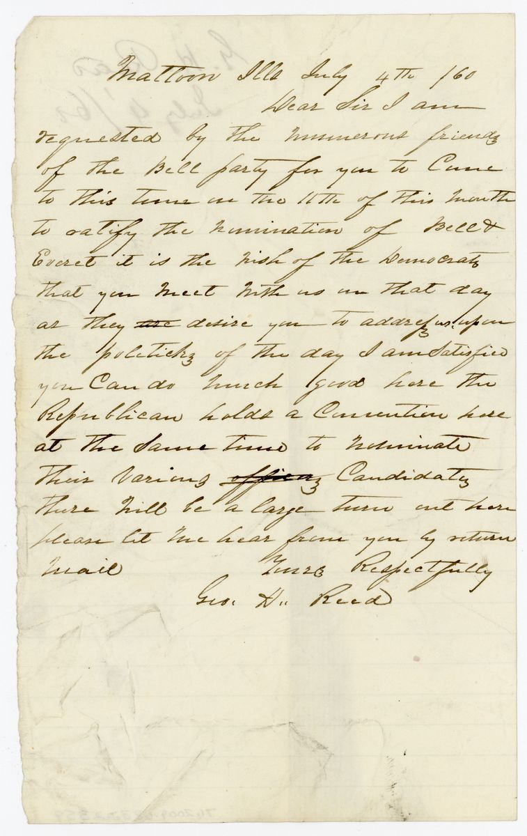 Image: Letter from George H. Reed to Richard W. Thompson