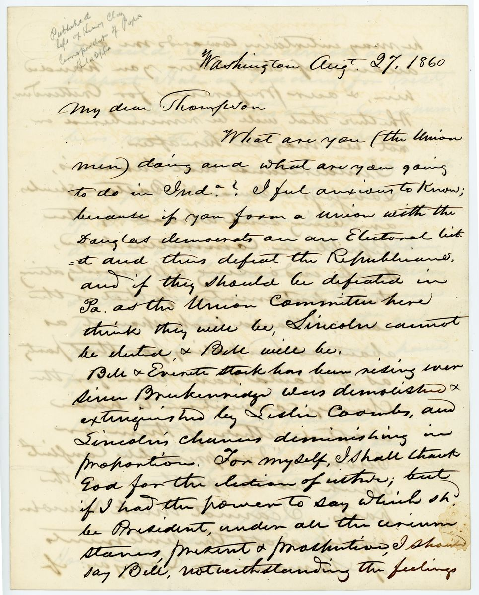 Image: Letter from N. Sargent to Richard W. Thompson
