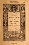Image: Catalogue of books, many relating to Abraham Lincoln and New York City ... for sale at auction, Tuesday afternoon, January 8 /