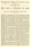 Image: The President's message--the sectional party : speech of Hon. John A. Bingham, of Ohio : delivered in the House of Representatives, April 24, 1860.