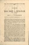 Image: Shall the government surrender to the rebellion? : speech of Hon. John A. Bingham, of Ohio, in reply to Hon. C.L. Vallandigham ; delivered in the House of Representatives, Jan. 14, 1863.