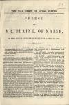 Image: The war debts of loyal states : speech of Mr. Blaine, of Maine, in the House of Representatives, April 21, 1864.