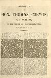 Image: Speech of Hon. Thomas Corwin, of Ohio, in the House of Representatives, January 23 and 24, 1860.