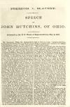 Image: Freedom v. slavery : speech of John Hutchins, of Ohio ; delivered in the U.S. House of Representatives, May 2, 1860.