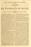 Image: The Republican party : speech of Mr. Washburn, of Maine : delivered in the House of Representatives, January 10, 1859.