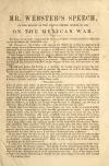 Image: Mr. Webster's speech, in the Senate of the United States, March 23, 1848, on the Mexican War.
