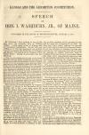 Image: Kansas and the Lecompton constitution : speech of Hon. I. Washburn, jr., of Maine ; delivered in the House of representatives, January 7, 1858.