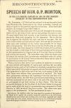 Image: Reconstruction : speech of Hon. O.P. Morton, in the U.S. Senate, January 24, 1868, on the constitutionality of the Reconstruction Acts.