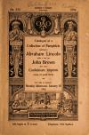 Image: Catalogue of a collection of pamphlets relating to Abraham Lincoln with a few on John Brown and some Confederate imprints, many of great rarity; for sale at auction, Monday afternoon, January 18, 1904.