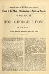 Image: Cause of the war, proclamation, arbitrary arrests : speech of Hon. George I. Post, of Cayuga, in the House of Assembly, March 3d, 1863.