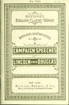 Image: Speeches of Lincoln and Douglas in the campaign of 1858 /