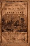 Image: Sketch of the life and some of the principal speeches of Henry Clay /