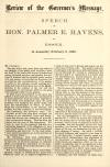 Image: Review of the governor's message : speech of Hon. Palmer E. Havens, of Essex, in Assembly, February 6, 1863.