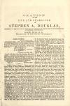 Image - Oration on the life and character of Stephen A. Douglas : delivered on the 25th day of June, 1861, in the hall of the House of Representatives, at Madison, Wisconsin /