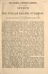 Image: Speech of Hon. William Kellogg, of Illinois : delivered in the House of Representatives, January 12, 1858.