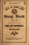 Image: The dime song book no. 2 : a collection of new and popular comic and sentimental songs.