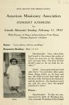 Image: Concert exercise for Lincoln Memorial Sunday, February 11, 1912 : with pictures of Negro, Indian, Eskimo, Porto Rican, Chinese, Japanese children.