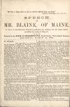 Image: Speech of Mr. Blaine, of Maine, in favor of amending the federal Constitution by striking out the clause which prohibits the taxing of exports : delivered in the House of Representatives, second session, Thirty-eighth Congress, Thursday, March 2d, 1865.