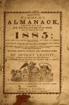 Image: Leavitt's farmer's almanack, improved, and miscellaneous year book, for the year of our Lord 1885 /