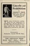 Image: Lincoln and prohibition, by Charles T. White : [advertising brochure].