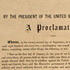 Image: Printed copy of the Emancipation Proclamation signed by President Abraham Lincoln and Secretary of State William Seward