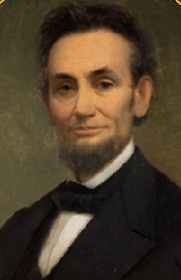 Lincoln's last portrait from life. Fine art.