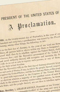Emancipation Proclamation. Manuscripts and documents.