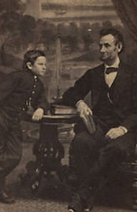 Tad and Abraham Lincoln. Photographs.